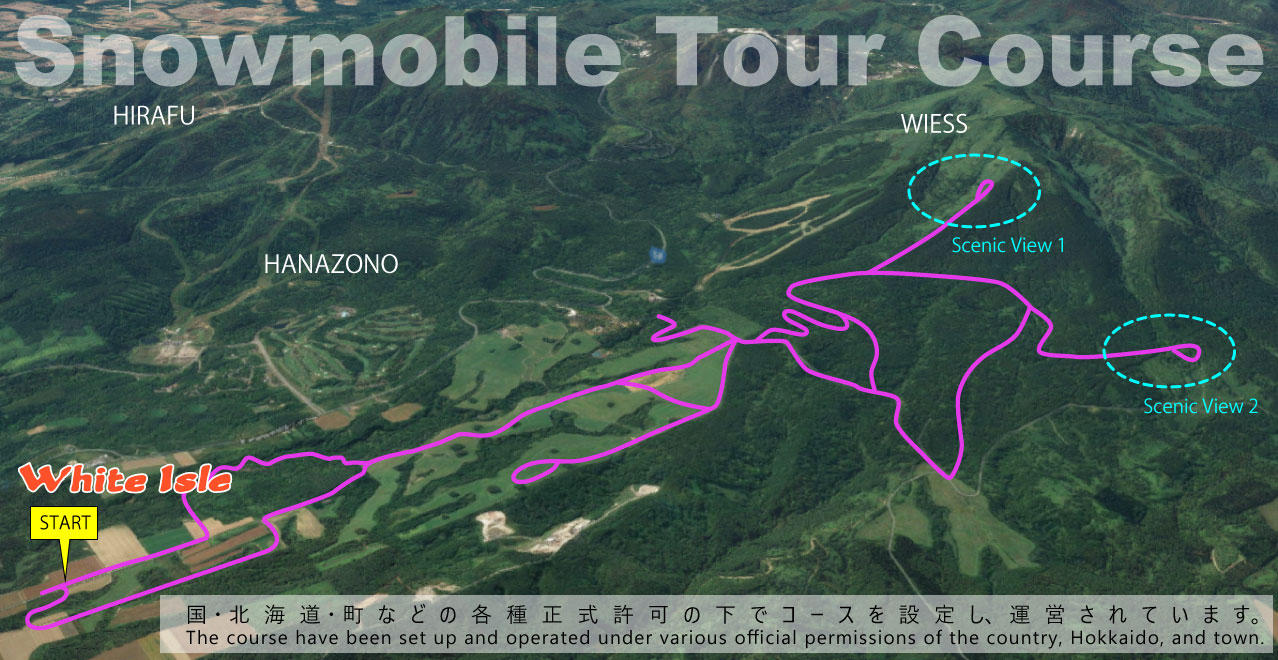 Snowmobile Tour Course